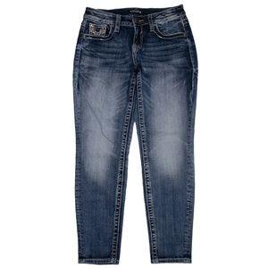 Vigoss NWOT Jeans Chelsea Boyfriend Blue Sz 3/4